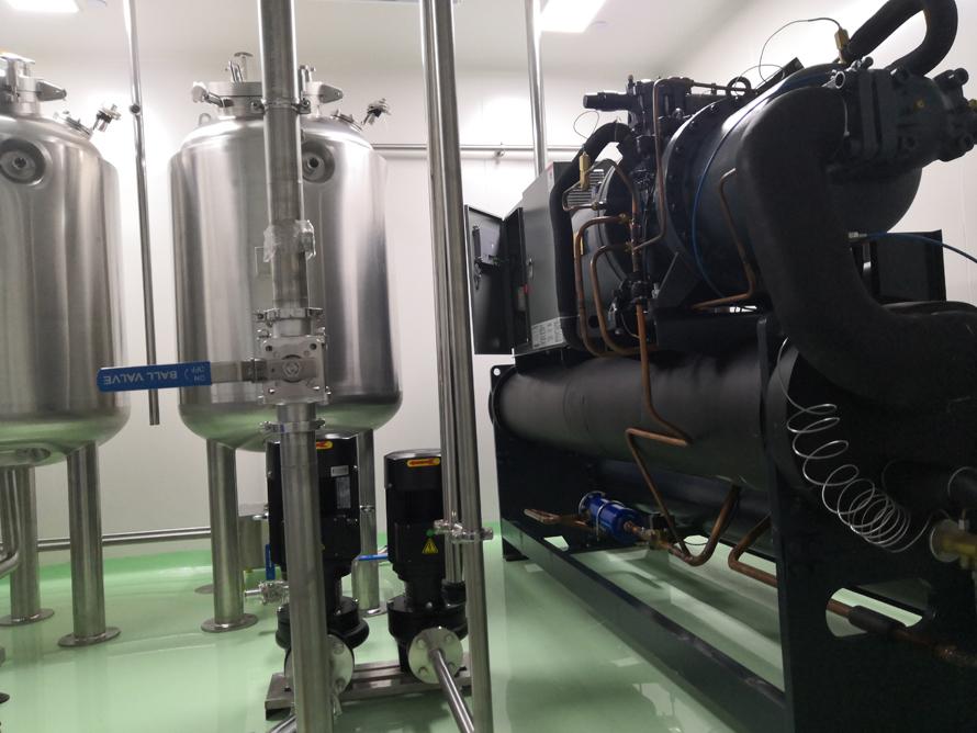 生物制药业120P螺杆低温冷水机组使用案例