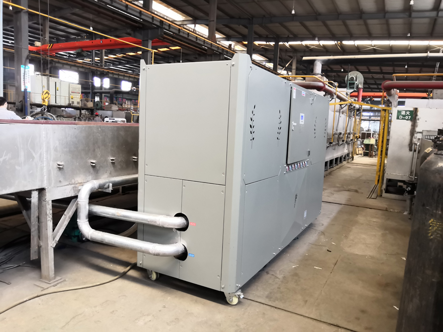 60P水冷工业冷水机在不锈钢生产的使用案例